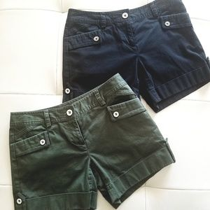 WHBM size 0 Shorts (black or green)
